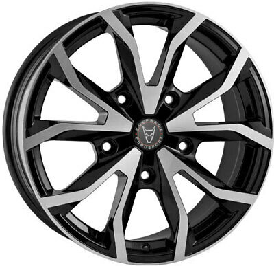 "18"" WOLFRACE BLACK POLISHED Alloy Wheels & Tyres 5X160 FORD TRANSIT / CUSTOM"