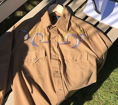 Vintage Cowboy Brown Shirt