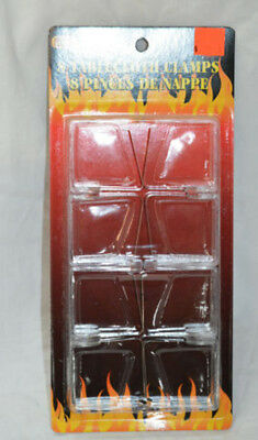 1 Pack of 8 tablecloth clamps plastic ( ref#bte22 )