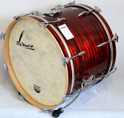"Sonor Vintage Series Bassdrum VT 17 2014 BD WM 20"" x 14"" Red Oyster"