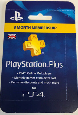 Playstation Plus 3 Month Membership For PS4