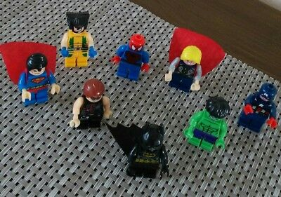 marvel super hero figures pack of 8 compatible with Lego.