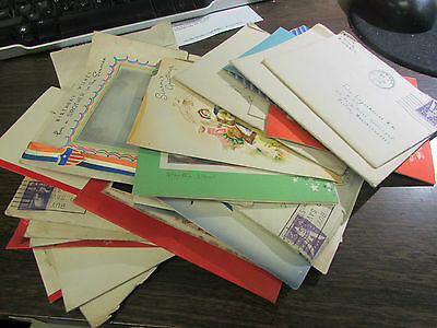 Wwii Lot Of 38 Diffierent Greeting Cards Sent To Wwii Son Away At War - Very Goo