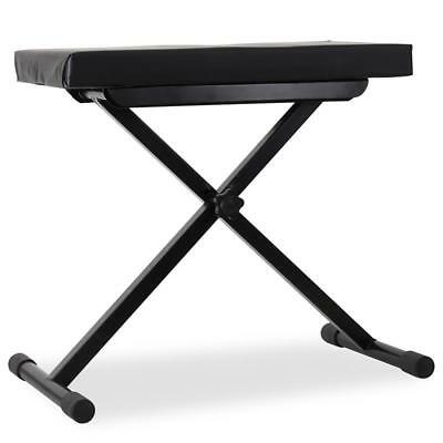 Electronic Keyboard Piano Seat Height Adjustable Musical Instrument Foam Bench
