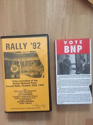 2 British National Party VHS Videos Annual Rally 1992 Vote BNP 1998
