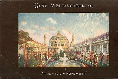 Carte BELGIQUE GAND GENT Weltaustellung April 1913 November