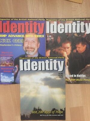 3 X Identity BNP British National Party Magazines 2003 National Front NF