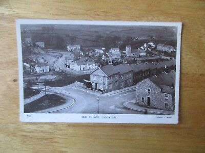 vintage postcard * Cadoxton - Old Village * Ernest T. Bush * postally used 1914