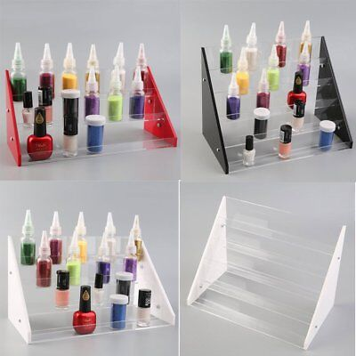 3 / 4 / 5 Tier Nail Polish Rack Organizer Acrylic Stand Holder Display Shelf UK