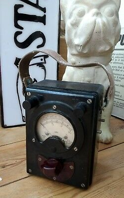 Vintage Ohms Meter Gauge - Tester Steampunk Battery Antique Electricity Volts