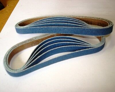 sanding belts...10mmx330mm Blue Zircon