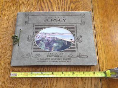 A souvenir of Jersey circa 1900, with 12 colour picture plates inside