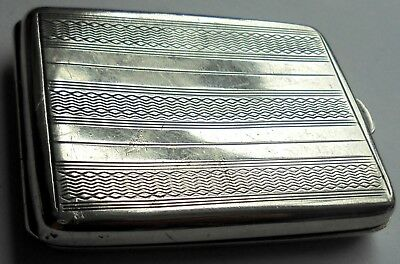 Art Deco Sterling Silver Ladies Card Case with Full Silver Hallmarks for 1925.