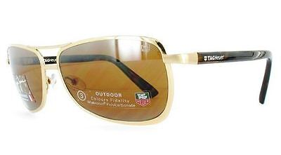 Genuine TAG Heuer 0981 Replacement Sunglasses Lenses - Brown P/Carb Mirror A/R