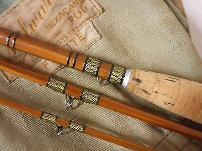 Vintage early 8' Millward of Redditch 'Hexacore Flylite' cane fly rod  ** MINT**