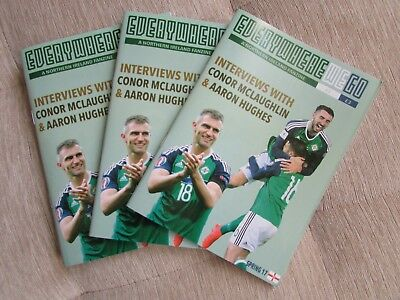 Everywhere We Go Issue 2, 3 And 4 Northern Ireland Football Fanzine