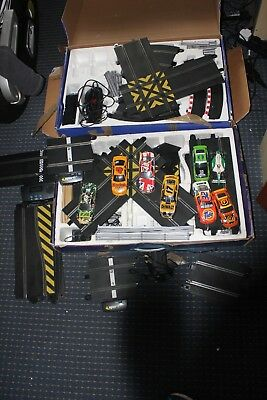 Scalextric sets powerslide, bash and crash plus additonal cars and track