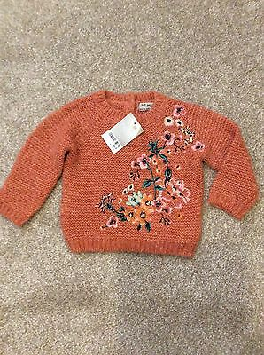 BNWT NEXT girls floral  jumper 6-9 months