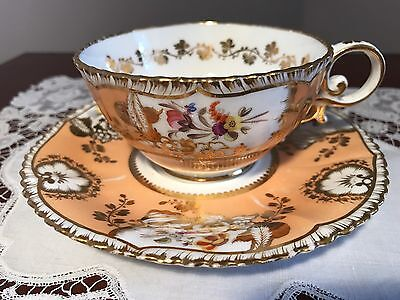 Antique Coalport Hand Painted Cup and Saucer