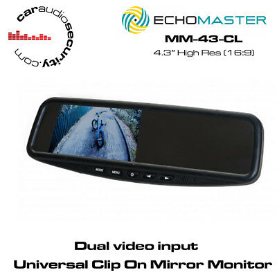 "Echomaster MM-43-CL 4.3"" Clip On Mirror Monitor"