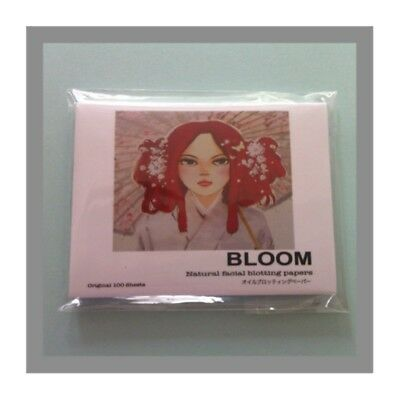 "100 sheets Bloom Facial Oil Control Blotting Paper  ""UK Seller & Free Post"""