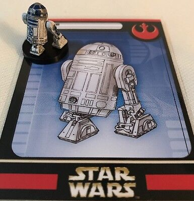 Star Wars Miniatures Rebel Storm R2-D2 Game Figure 14/60 MINT With Card