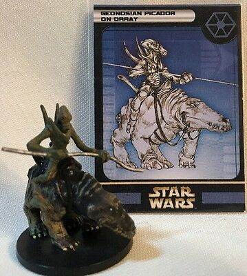Star Wars Miniatures Clone Strike Geonosian Picador on Orray 43 MINT With Card