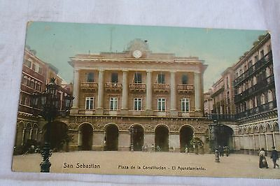 Carte postale ancienne : San Sebastian . Place de la Constitution .