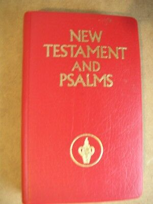 New Testament And Psalms Small Pocket Bible Book By Gideons International - New