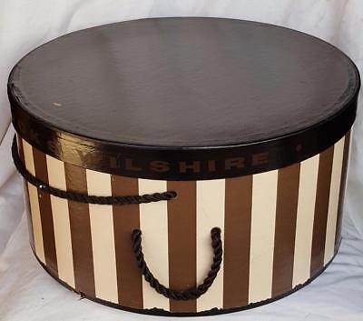 Antique Bullocks Hat Box  1930's LARGE HAT BOX IN GREAT SHAPE - WONDERFUL