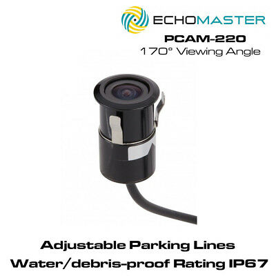 Echomaster PCAM-220 Bullet Style Flush Mount Camera With Parking Lines
