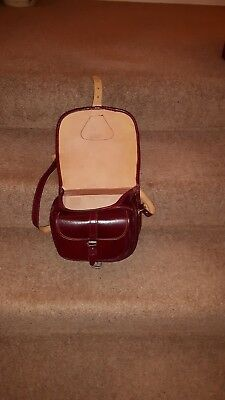 Cartridge Bag Leather Burgundy in good used condition