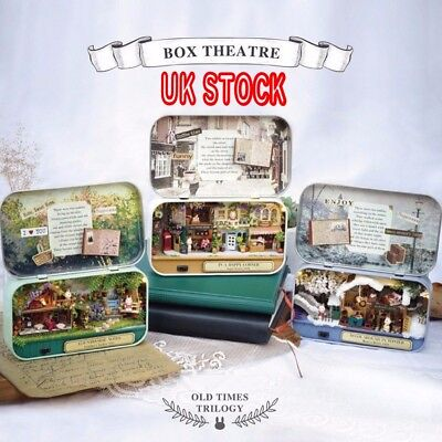 Cuteroom Old Times Trilogy DIY Box Theatre Doll House Miniature Kid Xmas Gift UK