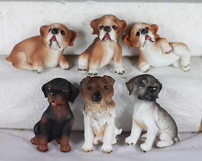 Dog Fridge Magnets - Set Of 12 - 6 Assorted - Party Favour - Stocking Fillers!