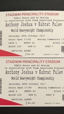 2 x Anthony Joshua Tickets