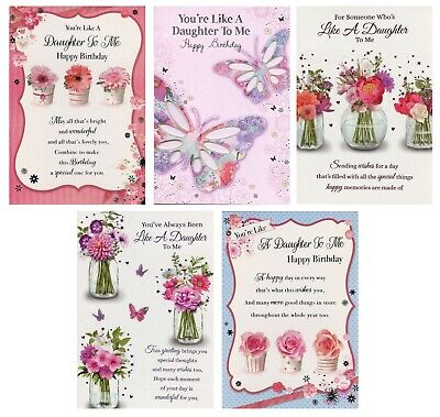 Like A Daughter To Me Birthday Card Various Designs 1StpP Greeting Cards