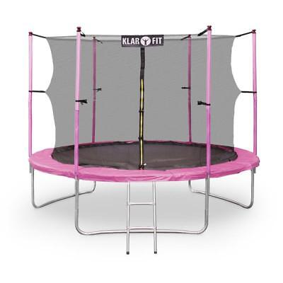 Pink 10 Ft Jumping Trampoline Enclosed Safety Net Adult Kids Gift Ideas