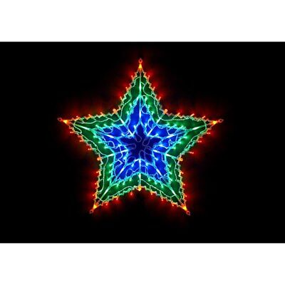 Christmas Multicolour 100 LED Star Window Light  Party Decoration