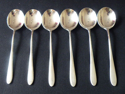 6 Walker & Hall Pride Soup Spoons Iconic Award Winning Design