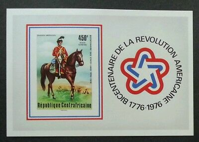 Central Africa American Revolution Bicentennial Bicentenary 1976 (imperf ms) MNH