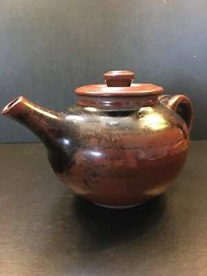 Japanese Teapot Rare Tanba Ware Pottery Glazed With Maker Marks ~ Mint