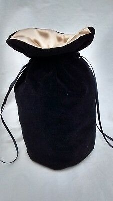 Black Velvet  Dolly Bag With Gold Satin Lining .bride / Bridesmaid /  Wedding