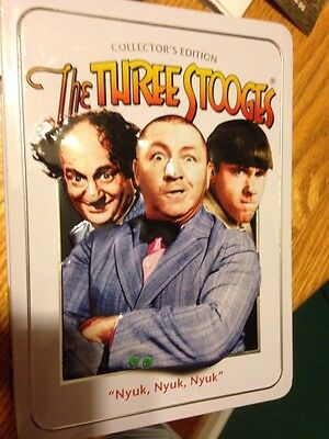 SALE-Three Stooges Collectors Edition DVD 4 Disc Collectors Tin