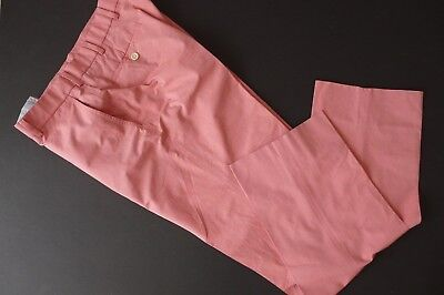 "BROOKS BROTHERS ""FITZGERALD"" 100% COTTON PINK COLOR PANTS sz 36/32"