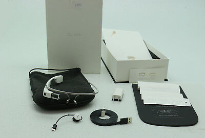 Google Glass Explorer Cotton In-Box with All Accesseries – Earbud, Charger, etc.
