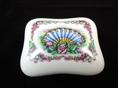 Heritage House Porcelain Music Box Blue Fan Love song some Enchanted Evening 15)