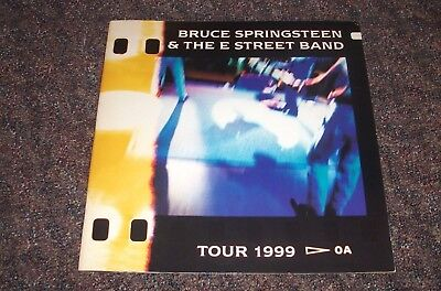Bruce Springsteen and The E Street Band - 1999 Concert Tour Program The Boss