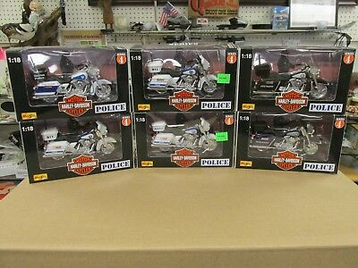 DIECAST Maisto Series 4 Harley Davidson Motorcycles 1:18 Set of 6 New in Package
