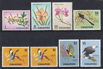 Singapore 1963 Flowers and Birds in Natural Colors mint hinged