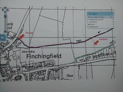 Small parcel of Freehold land for sale in Finchingfield, Nr Braintree, Essex